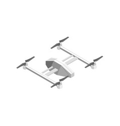 quadcopter technology control isometric view vector image