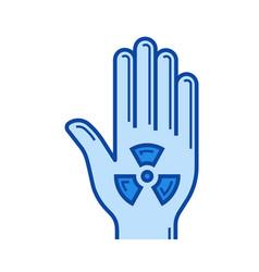 radiation warning line icon vector image