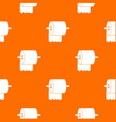 roll of toilet paper on holder pattern seamless vector image vector image