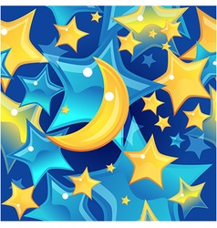 Seamless background - stars and moon vector