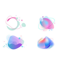set abstract graphic design elements vector image
