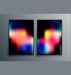 set gradient texture design for background vector image