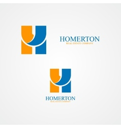 Set of abstract letter H logo vector image