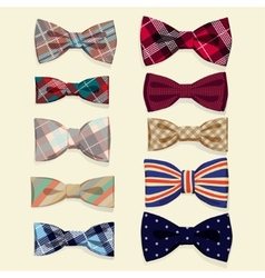 Set of bow-ties vector image