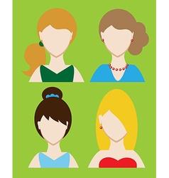 Set of female avatar or pictogram for social vector image
