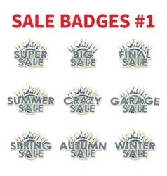 Set of huge sale badges vector