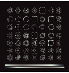 Silver art mandala vector image