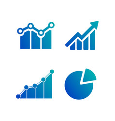 simple set diagram and graphs business related vector image