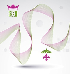 Sophisticated 3d waved decoration clear eps 8 vector image