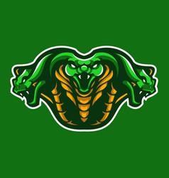 three king cobra face mascot vector image