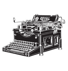 Typewriter vintage vector
