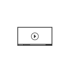 video player for web icon flat vector image