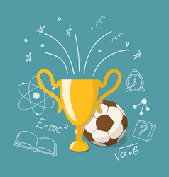 Winner cup and ball vector