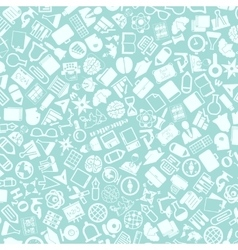 background of the education icons vector image