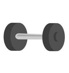 black metal dumbbell cartoon vector image vector image