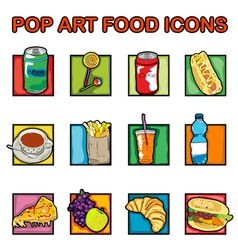 classic food icons vector image