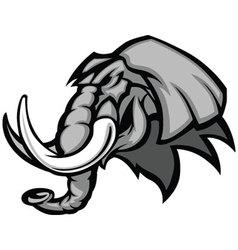 elephant mascot head graphic vector image