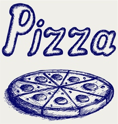 Pizzas vector image vector image