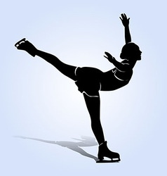 Silhouette figure skaters vector image