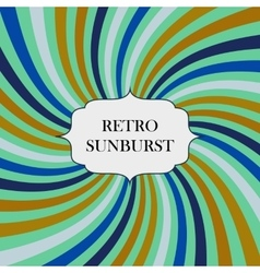 with retro sunburst background vector image
