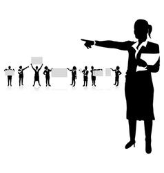 business women boards vector image vector image