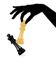 chess game and defeating the king vector image vector image