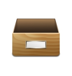 File Cabinet for Documents vector image vector image