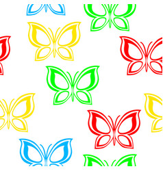 flying multicolored butterflies vector image