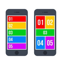 Infographic Smartphone Concept in Flat Style vector image