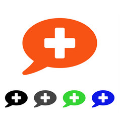 medical message flat icon vector image vector image