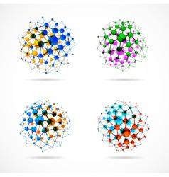 molecular structures set vector image