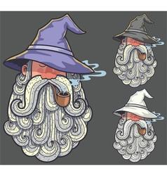 Wizard Portrait 2 vector image vector image