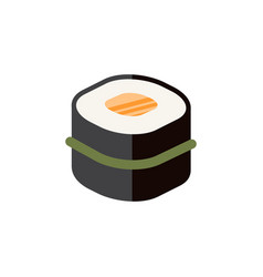 Isolated gourmet flat icon sushi element vector