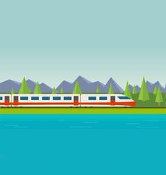 Speed train vector image vector image