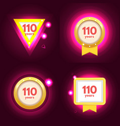 anniversary 110 icons set vector image vector image