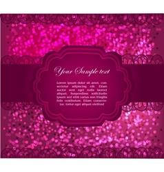 Beautiful greeting card vector image