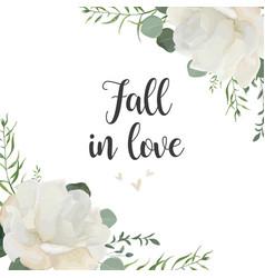 floral card elegant design with garden white vector image vector image