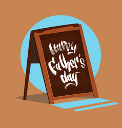 happy father day family holiday bar sign vector image