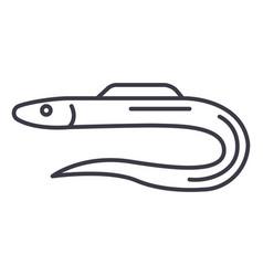 morayeel line icon sign on vector image