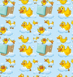 Seamless ducks vector image vector image