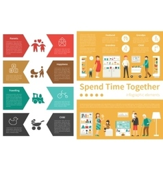 Spend Time Together infographic flat vector image vector image