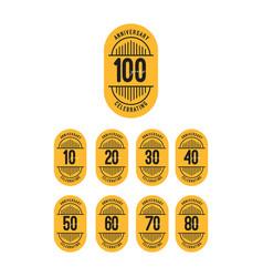 100 years anniversary celebrations retro template vector