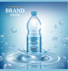 Aqua advertizing natural mineral liquid water vector