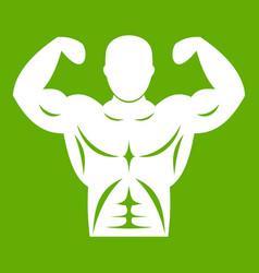 Athletic man torso icon green vector