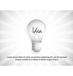 background with idea in bulb vector image