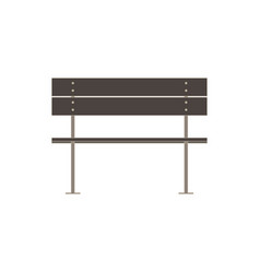 bench flat icon isolated street wooden design vector image