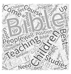 bible studies for children Word Cloud Concept vector image