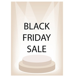 Black Friday Promotion on Brown Retro Stage vector image