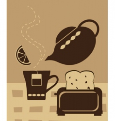breakfast tea vector image