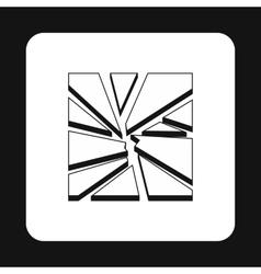 Broken glass icon simple style vector
